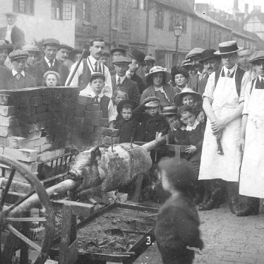 Stratford upon Avon.  Pig roast