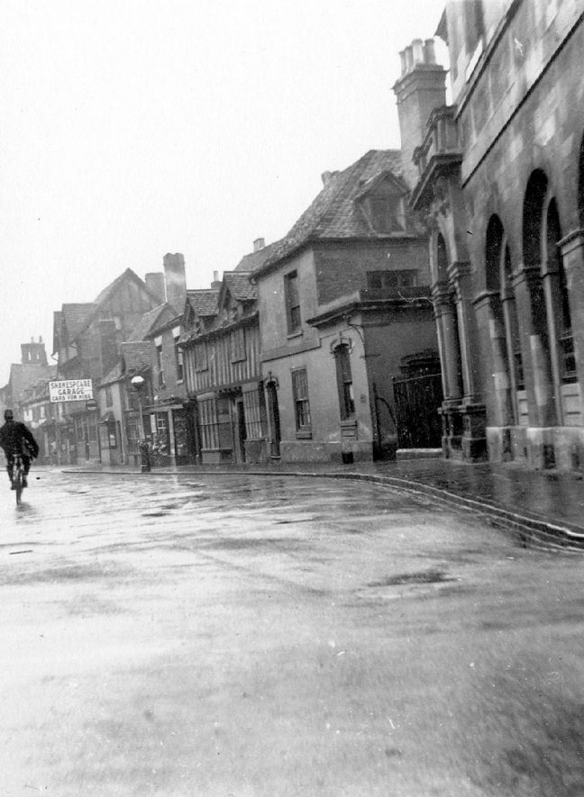 Sheep Street, Stratford upon Avon.  1933 |  IMAGE LOCATION: (Warwickshire County Record Office)