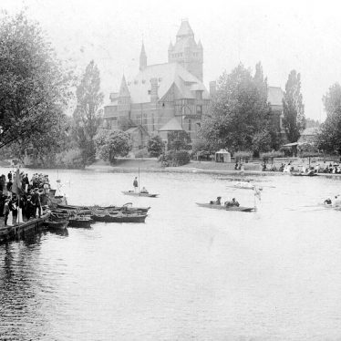 Stratford upon Avon.  Boat racing on the Avon
