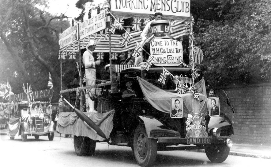 Stratford upon Avon coronation celebrations.  A decorated bus.  1937 |  IMAGE LOCATION: (Warwickshire County Record Office)