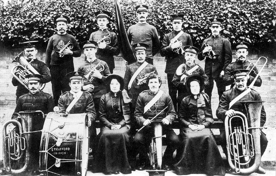 Salvation Army Band, Stratford upon Avon. 1900s |  IMAGE LOCATION: (Warwickshire County Record Office)