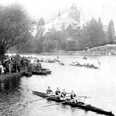 Stratford upon Avon.  Skulling races on River Avon