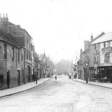 Stratford upon Avon.  Greenhill Street, decorated
