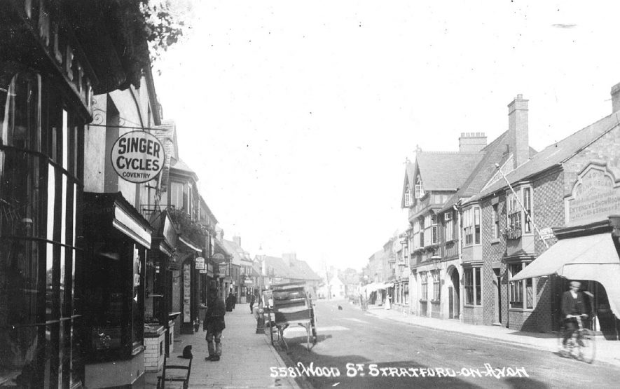 Wood Street, Stratford upon Avon.  1900s |  IMAGE LOCATION: (Warwickshire County Record Office)
