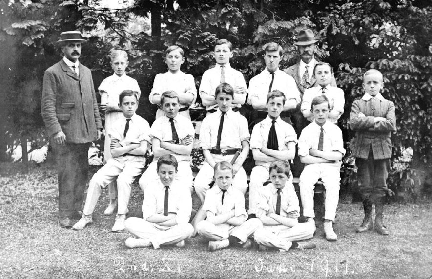 Second eleven school (unknown) cricket team, Stratford upon Avon.  1911 |  IMAGE LOCATION: (Warwickshire County Record Office)