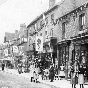 Stratford upon Avon.  Henley Street decorated