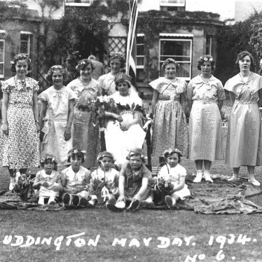 Luddington.  May Day, a group of celebrants