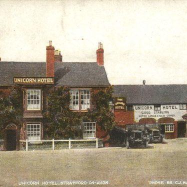 Stratford upon Avon.  Unicorn Hotel