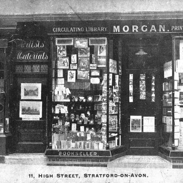 Stratford upon Avon.  Morgan's bookseller an stationers shop