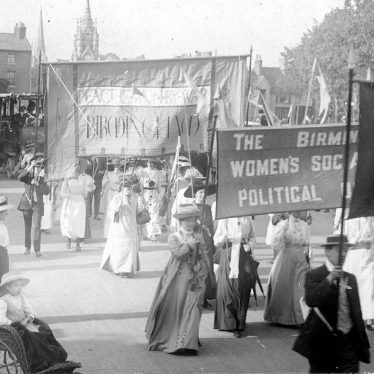 Stratford upon Avon.  Suffragette March