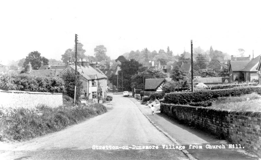 View of Stretton on Dunsmore from Church Hill.  1960s |  IMAGE LOCATION: (Warwickshire County Record Office)