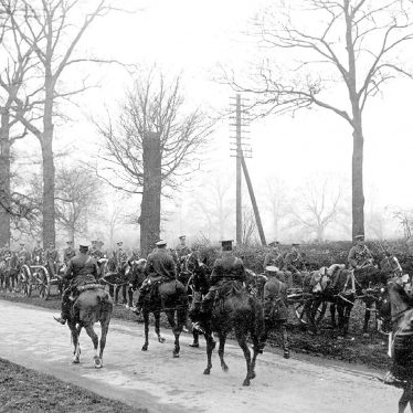 Stretton on Dunsmore.  George V reviewing troops