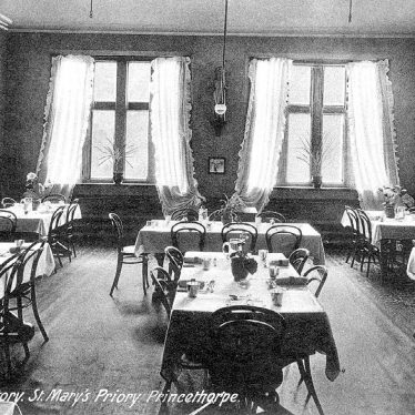 Princethorpe.  St Mary's Priory school refectory