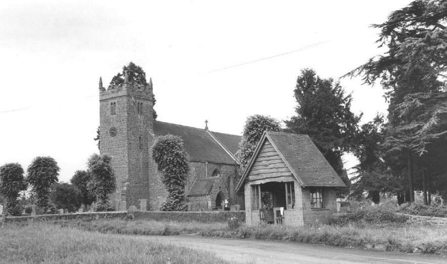 St Mary's Church and Lych Gate, Priors Hardwick. 1960s |  IMAGE LOCATION: (Warwickshire County Record Office)