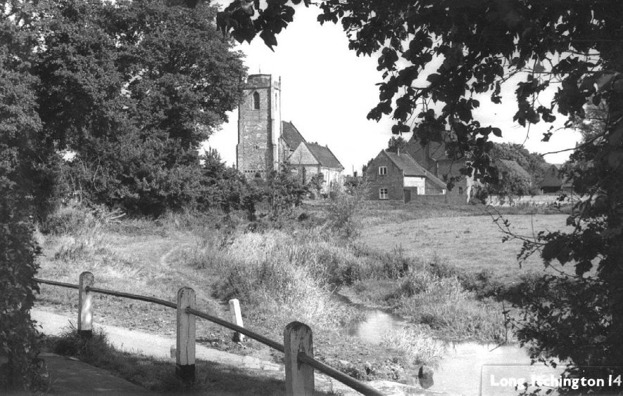 A view of Long Itchington Church from the south.  1950s |  IMAGE LOCATION: (Warwickshire County Record Office)