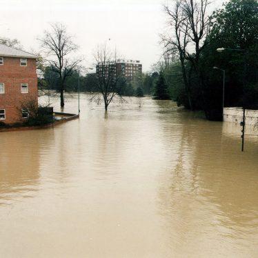 Leamington Spa.  Dormer Place, floods