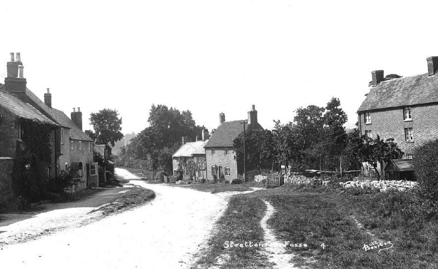 A view of the lane through Stretton on Fosse.  1920s |  IMAGE LOCATION: (Warwickshire County Record Office)