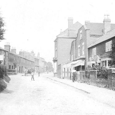 Studley.  Street scene in Redditch Road