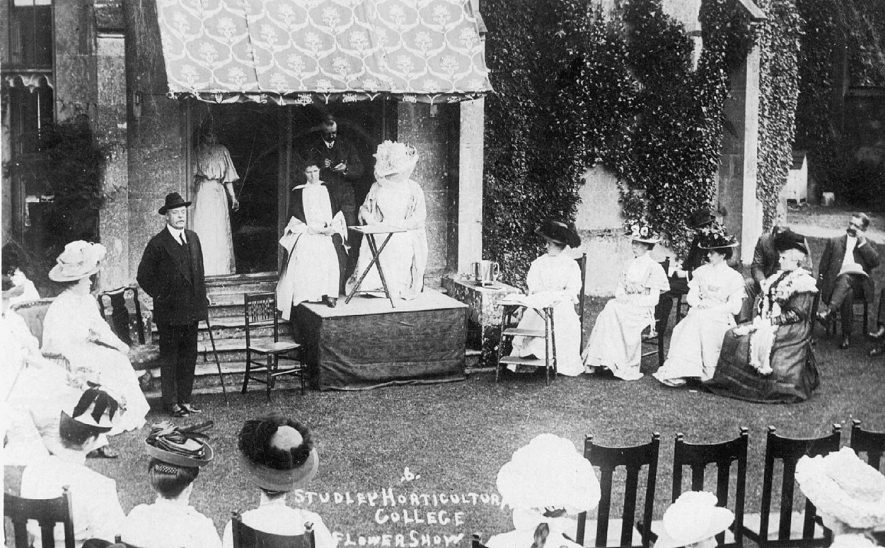 Studley Horticultural College flower show.  1900s    IMAGE LOCATION: (Warwickshire County Record Office)
