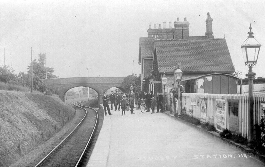 Studley Railway station.  1900s |  IMAGE LOCATION: (Warwickshire County Record Office)