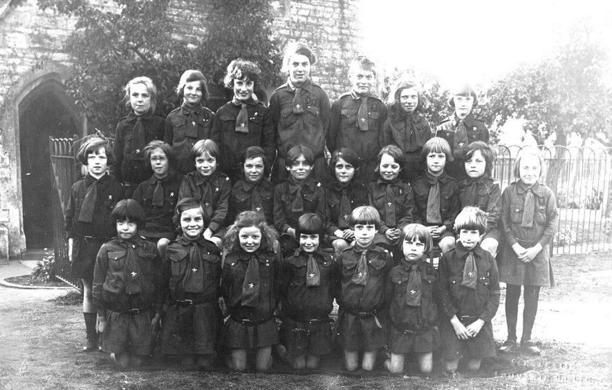 A group of girl guides, Long Itchington.  1930s |  IMAGE LOCATION: (Warwickshire County Record Office)