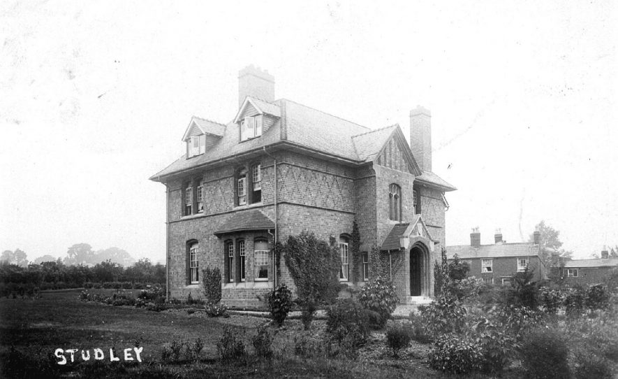 The Vicarage, Studley.  1900s |  IMAGE LOCATION: (Warwickshire County Record Office)