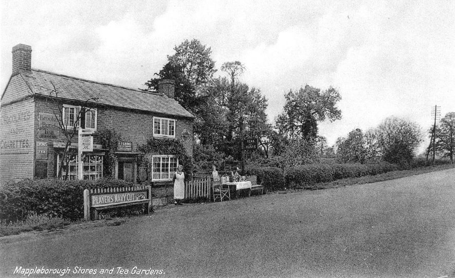 Mappleborough Green Stores and tea garden.  1910s |  IMAGE LOCATION: (Warwickshire County Record Office)