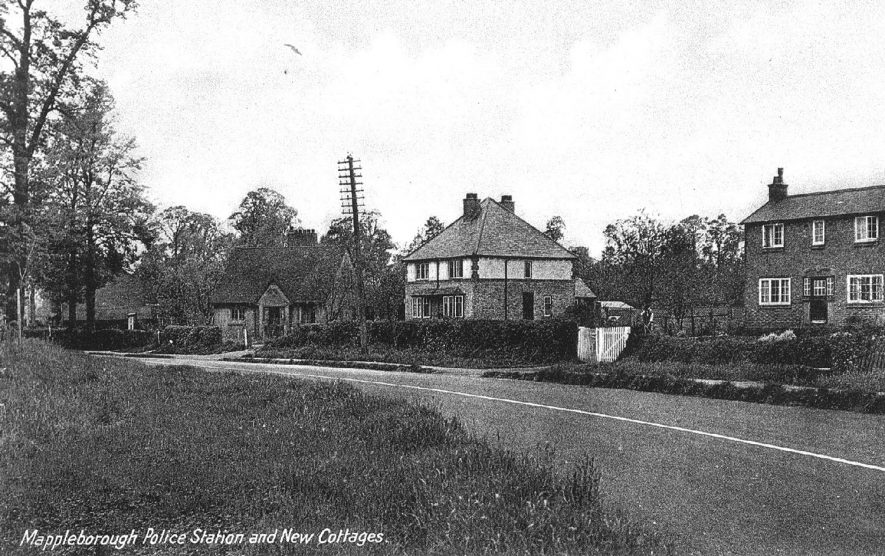 Mappleborough Green Police Station and new cottages.  1910s |  IMAGE LOCATION: (Warwickshire County Record Office)