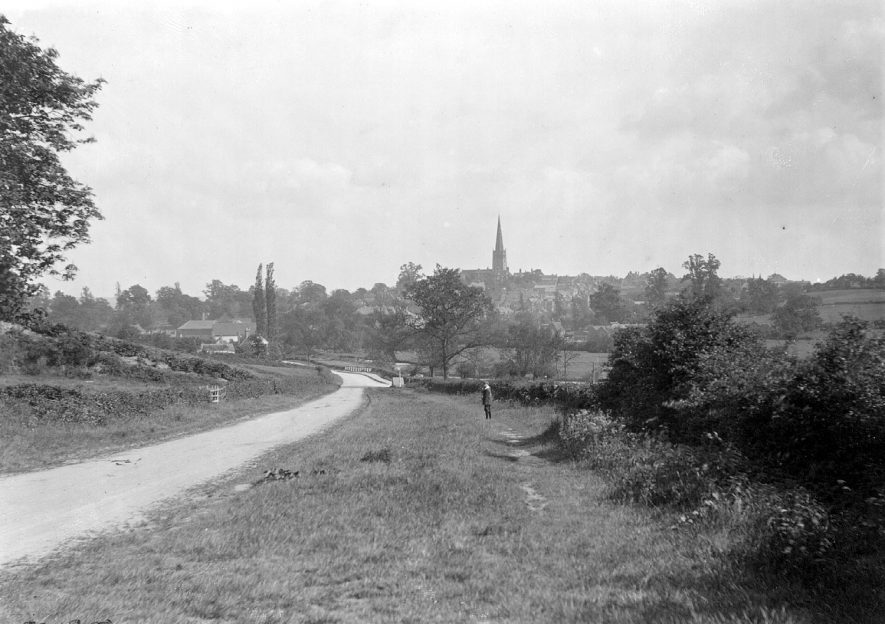 View of Coleshill from Grimstock Hill.  1900s |  IMAGE LOCATION: (Coleshill Library) SCAN DATE: (1/1298)