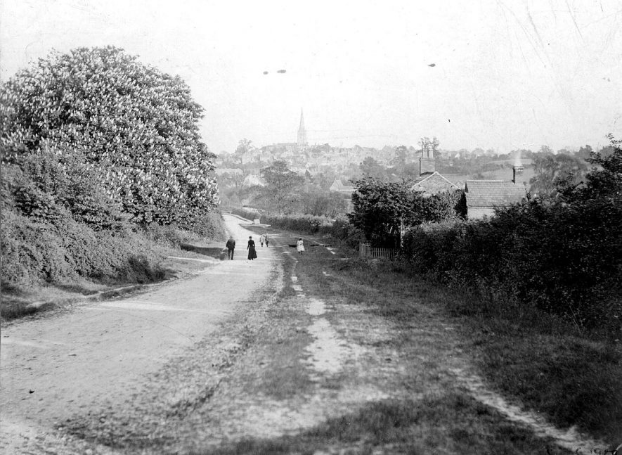 View of Coleshill from Grimstock Hill.  1900s |  IMAGE LOCATION: (Coleshill Library)