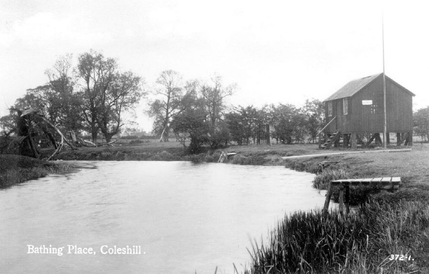 Coleshill bathing place in the River Blythe at the bottom of Maxstoke Hill.  1920s |  IMAGE LOCATION: (Coleshill Library)