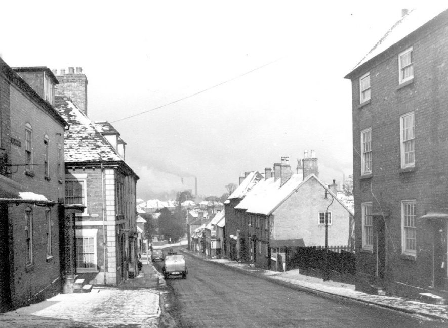 Lower High Street, Coleshill with snow. Laburnum House on the left.  1963 |  IMAGE LOCATION: (Coleshill Library)