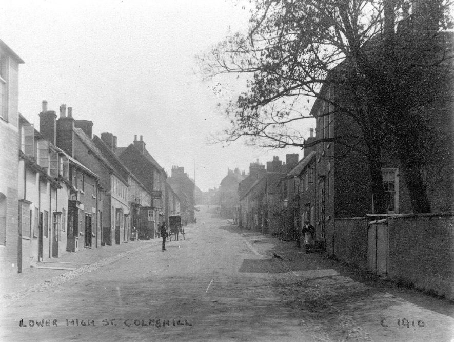 Lower High Street, Coleshill.  Circa 1910 |  IMAGE LOCATION: (Coleshill Library) IMAGE DATE: (c.1910)