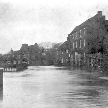 Coleshill.  Lower High Street, floods