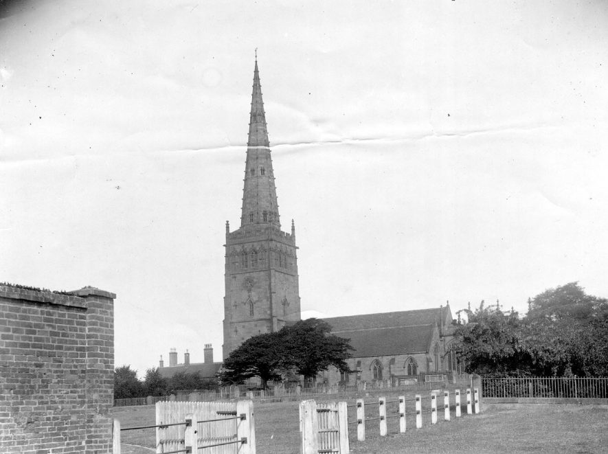 Church of Saints Peter and Paul, Coleshill, viewed from the croft and graveyard.  1960s |  IMAGE LOCATION: (Coleshill Library)