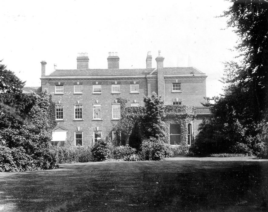 Exterior of the Old Vicarage, Coleshill.  1950s    IMAGE LOCATION: (Coleshill Library)