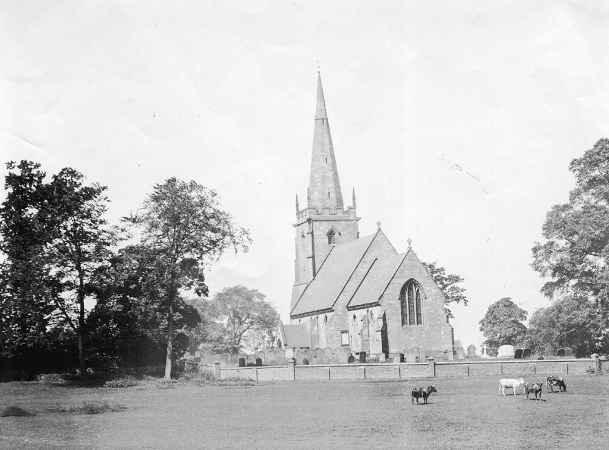 Church of St Cuthbert, Shustoke.  1950s |  IMAGE LOCATION: (Coleshill Library)