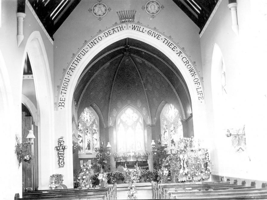 Interior of St Peter and Paul Church, Water Orton.  1950s |  IMAGE LOCATION: (Coleshill Library)
