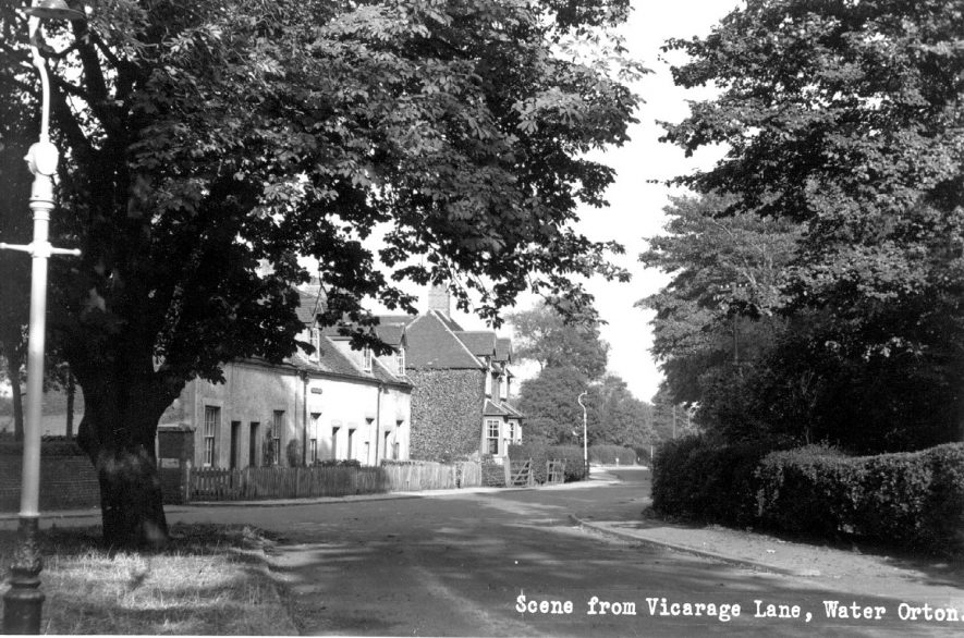Scene from Vicarage Lane, Water Orton.  1960s    IMAGE LOCATION: (Coleshill Library)
