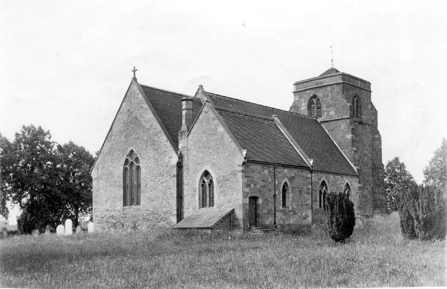 Church of St Giles, Nether Whitacre.  1950s    IMAGE LOCATION: (Coleshill Library)