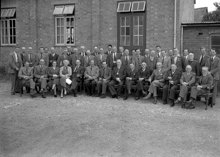 Southam Rural District Council, group photograph.  8 July 1952 |  IMAGE LOCATION: (Warwickshire County Record Office)