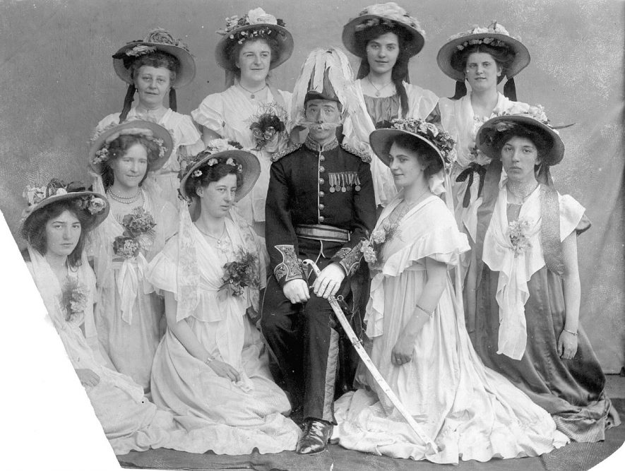 Operatic Society group photograph with costume, Coleshill.  1910 |  IMAGE LOCATION: (Coleshill Library)