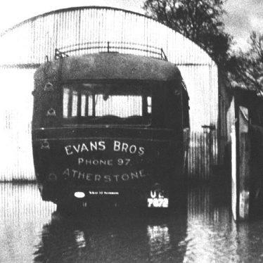 Atherstone.  Evans Bros. Bus