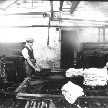 Atherstone.  Hatton's hat factory, dyeing department