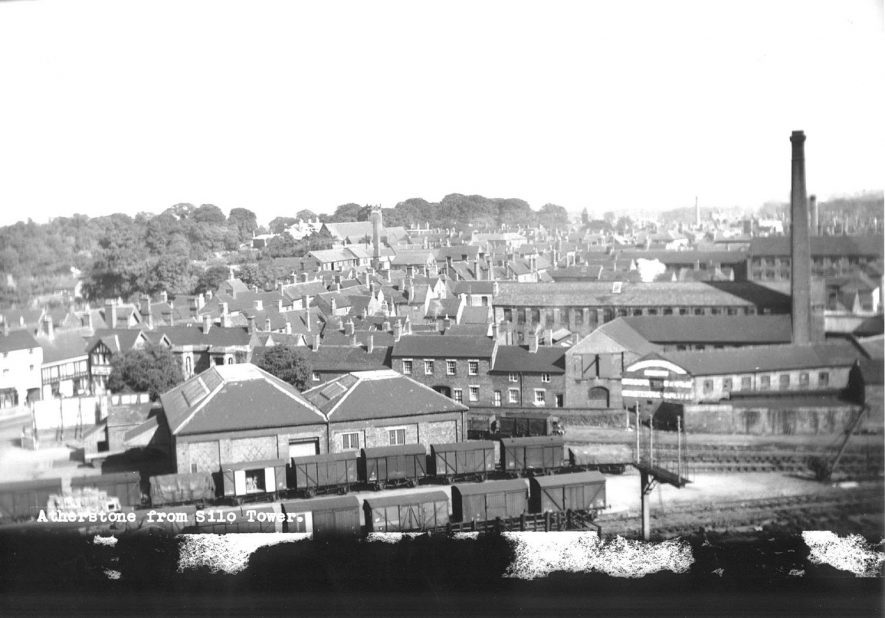 View of Atherstone from Silo Tower.  1960s |  IMAGE LOCATION: (Atherstone Library)