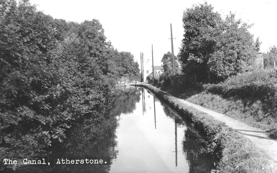 The canal and lock, Atherstone.  1960s |  IMAGE LOCATION: (Atherstone Library)