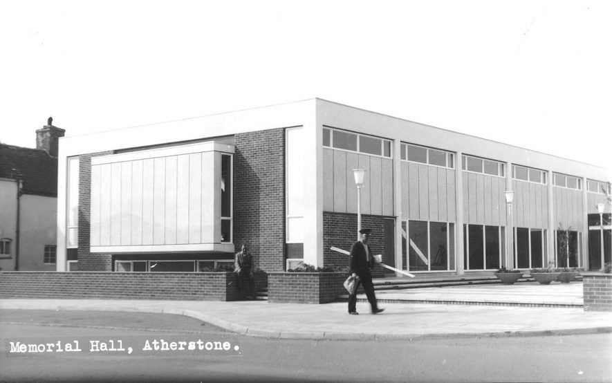 Exterior of The Memorial Hall, Atherstone.  1960s |  IMAGE LOCATION: (Atherstone Library)