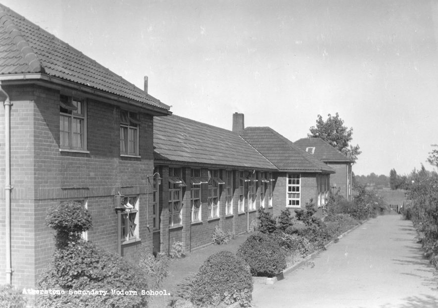Part of school building, Secondary Modern School, Atherstone.  1960s |  IMAGE LOCATION: (Atherstone Library)