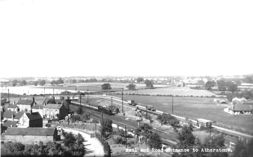 Road and rail links entering Atherstone.  1950s |  IMAGE LOCATION: (Atherstone Library)