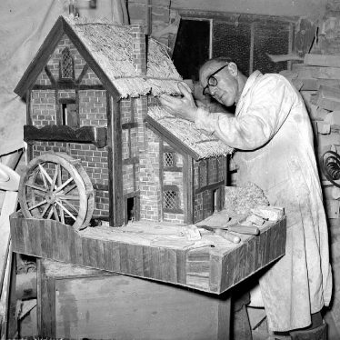 Stockton.  C. Gardner with watermill model